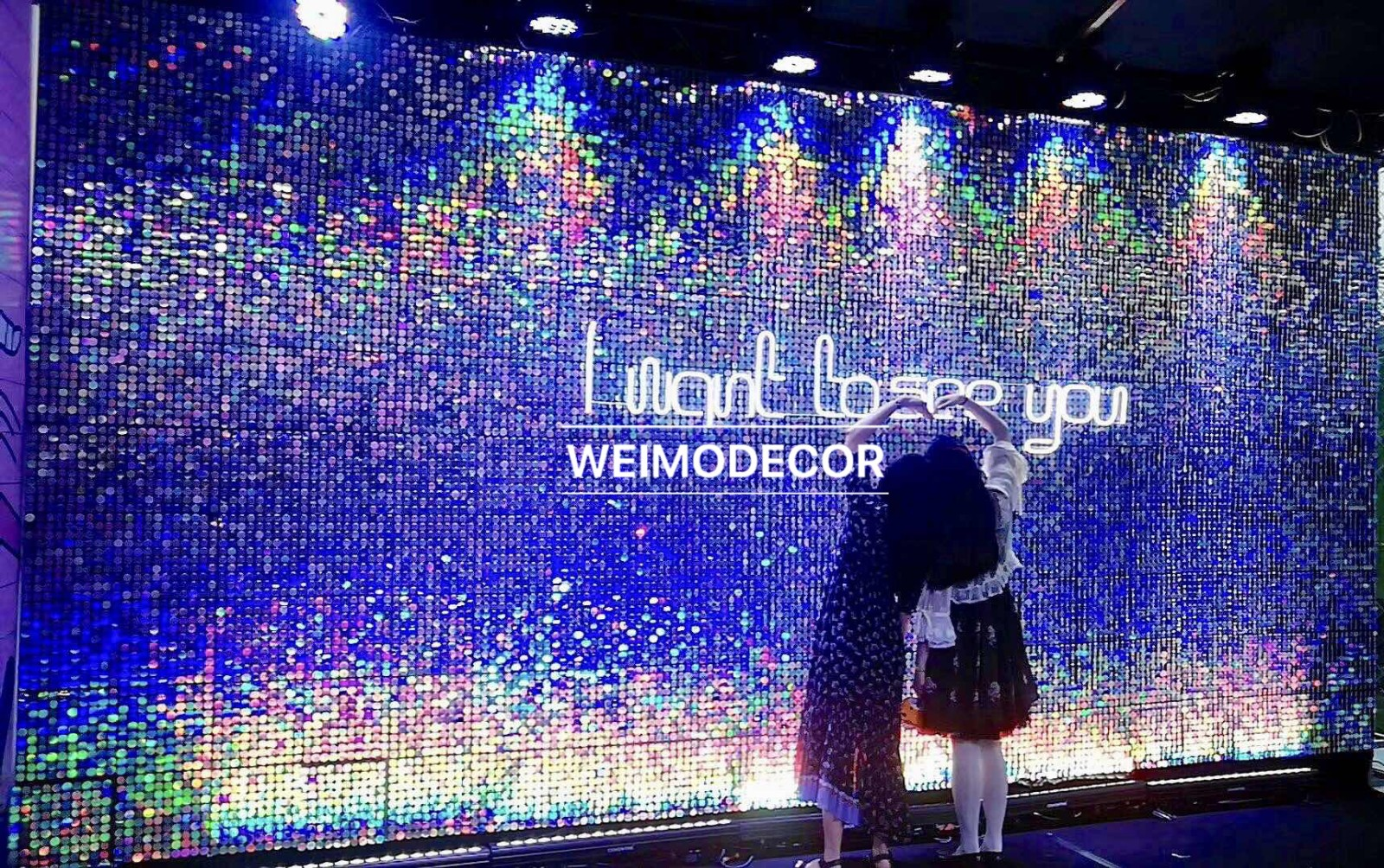 video-Rainbow color shimmer wall panel for interior and exterior decoration-Weimo-img