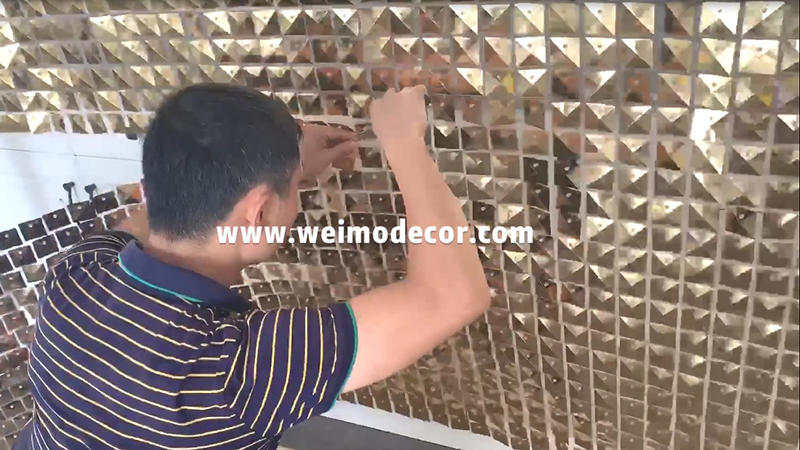 How to remove the sequin wall  panels from the backdrop frame