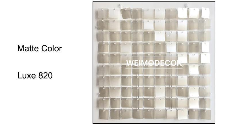 Matte Colour For Sequin Backdrop Panels--Luxe820