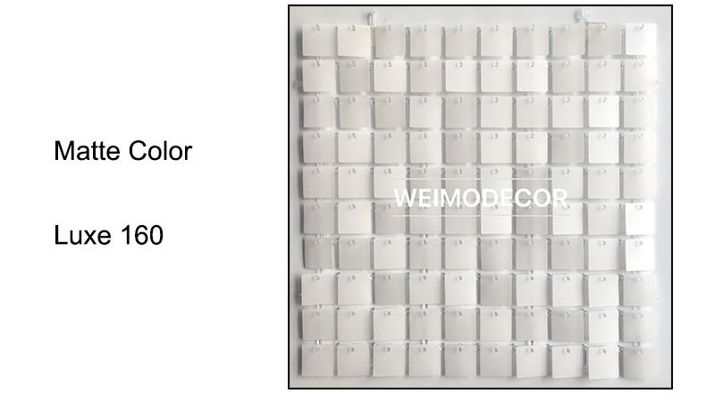 Matte Colour For Shimmer Sequin Wall Backdrop--Luxe160