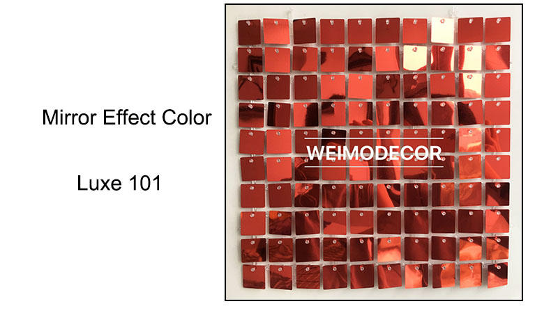 Shimmer Wall Backdrop Mirror effect colour--Luxe101