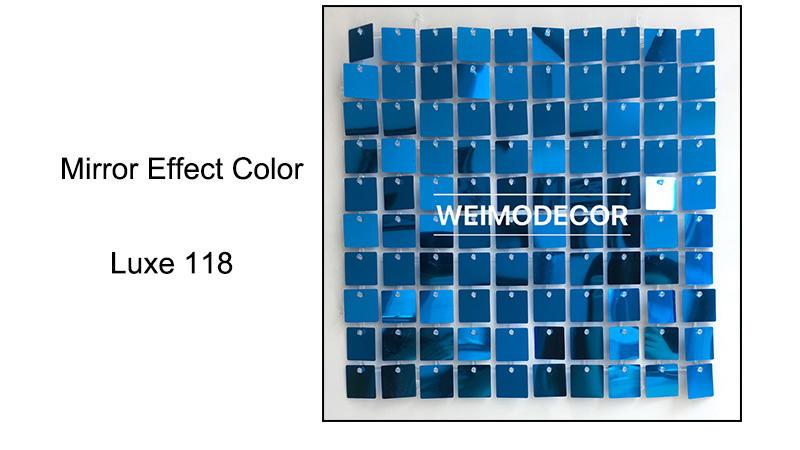 Sequin Panels Mirror effect colour--Luxe118