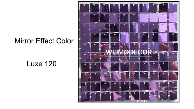 Sequin Panel Walls Mirror effect colour--Luxe120