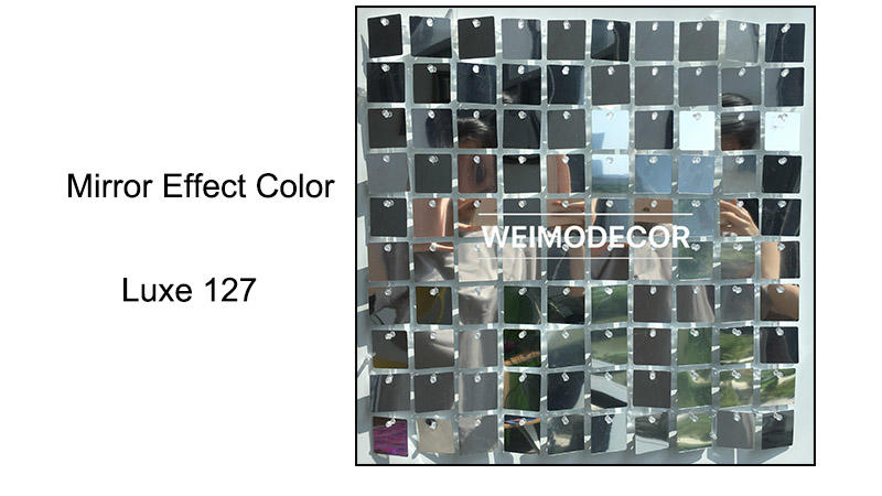 Shimmer Sequin Wall Panel Mirror effect colour--Luxe127