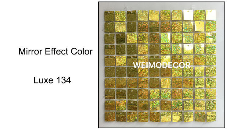 Shimmer Wall Panel Mirror effect colour--Luxe134