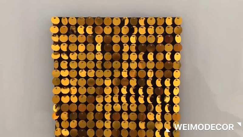 1cm gold shimmer discs wtih 15cm panels