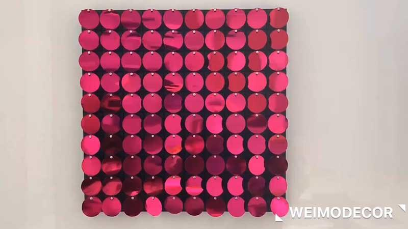 Interior decoration hot pink sparle wall Luxe147